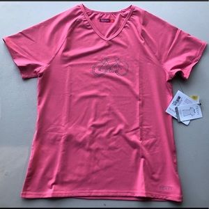 Pink cycling/sport t-shirt - Terry brand